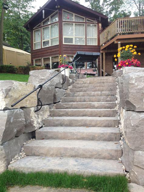 natural stone steps rivers edge