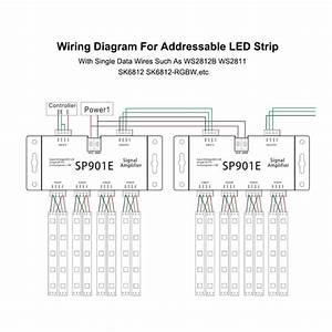 Sp901e Ws2812 Apa102 Sk6812 Pixel Led Strip Ttl Spi Amplifier