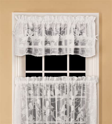 sears semi sheer curtains essential home chickadee semi sheer valance home home