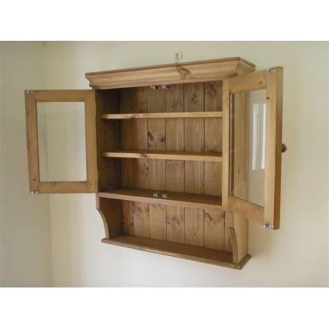 Glazed Cupboard Doors by Pine 2 Door Glazed Wall Cupboard W65cm