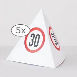 Pappteller 30 Geburtstag : tischdeko verkehrsschild pyramide 30 geburtstag 13 5 cm 5er pack g nstig kaufen bei ~ Markanthonyermac.com Haus und Dekorationen