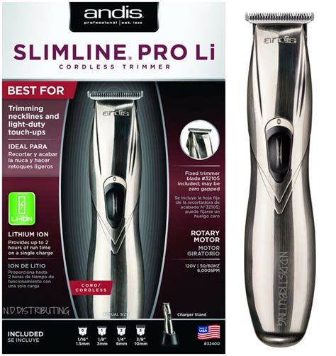 andis slimline pro li cordless trimmer lightweight model