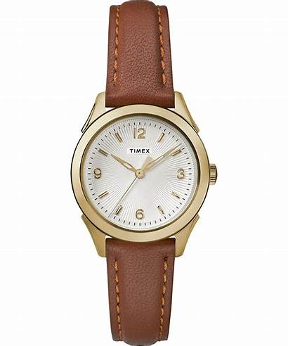 Leather Timex Watches Strap Torrington 27mm Womens