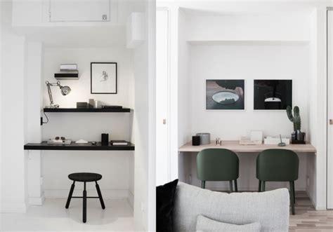 bureau blanc avec rangement aménager un coin bureau viving