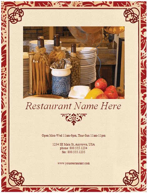 restaurant menu template   restaurant menus