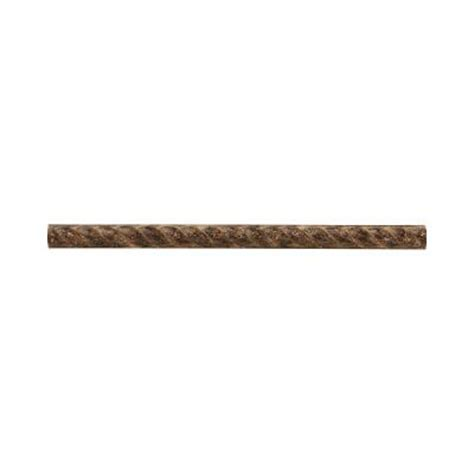 Home Depot Wall Tile Trim by Jeffrey Court Emperador Rope 75 In X 12 In Resin Accent