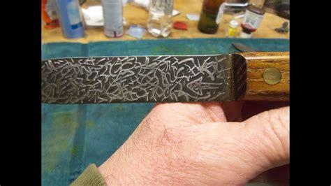 acid etching knife blades brain dead  blade youtube