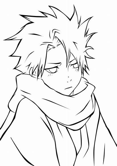 Coloring Anime Pages Boys Bleach Boy Male