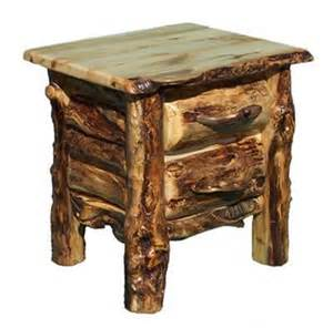 Rustic Log Furniture End Table
