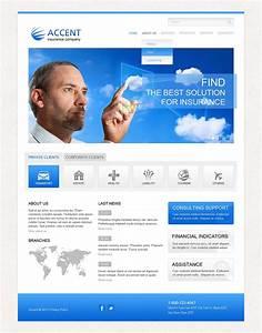 Insurance Responsive Website Template  43328
