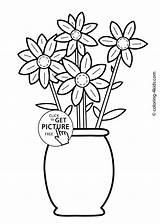 Coloring Flowers Printable Flower sketch template