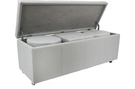 bout de lit coffre gris b 233 ton pied de lit pas cher
