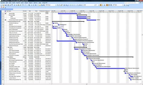 sample microsoft project construction schedule