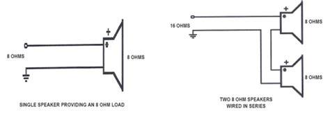 Wiring 8 Ohm Speaker In Series by Series Parallel Speaker Wiring Hometoys
