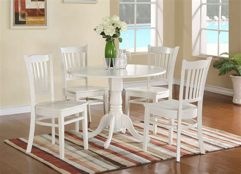 white kitchen table with 4 chairs 5pc dublin dinette set pedestal kitchen table w 4