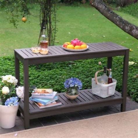 Outdoor Sideboard Console Table by Outdoor Console Table Buffet Patio Garden Wood Gray