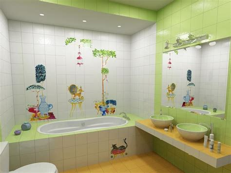 Cute And Colorful Kids' Bathroom Designs