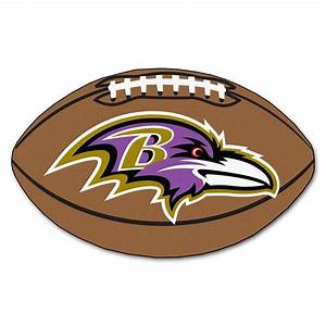 FANMATS NFL Baltimore Ravens Brown 1 ft 10 in x 2 ft 11