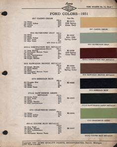 1968 Ford Color Chart