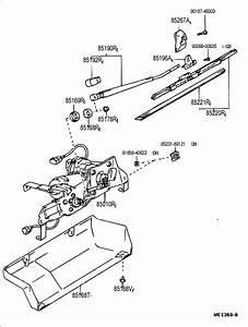 Toyota 4runner Nut  Rear Wiper Link Pivot  No 1