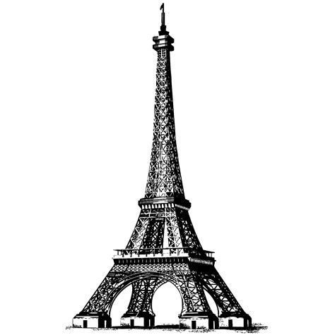 How To Draw The Eiffel Tower For Kids Clipart Best