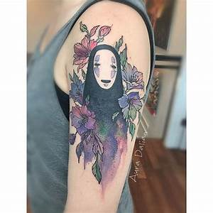 This no face tattoo was designed by Audra Auclair. This ...