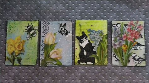 lovespringart  artist trading cards spring youtube