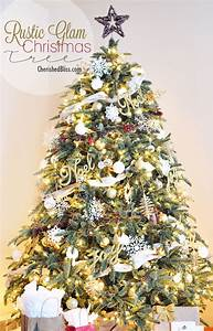 Rustic Glam Christmas Tree Reveal - Cherished Bliss