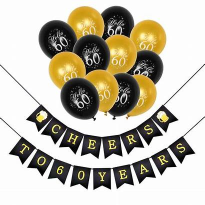 60th Birthday Party Decorations 50th Balloons Gold