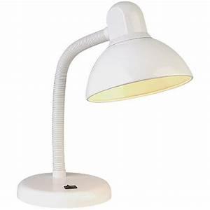 Gooseneck white finish task desk lamp for 6 head gooseneck floor lamp