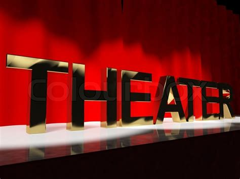 true colors theatre theater word on stage representing broadway the west end