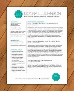 custom resume template color circle initials by rbdesign2 With etsy resume template
