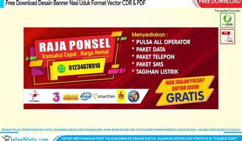spanduk ponsel spanduk counter hp Jalanninja com