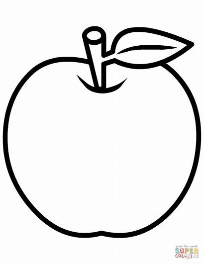 Coloring Apple Pages Printable Drawing Paper Styles