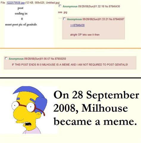Milhouse Meme - image 155905 quot milhouse is not a meme quot know your meme