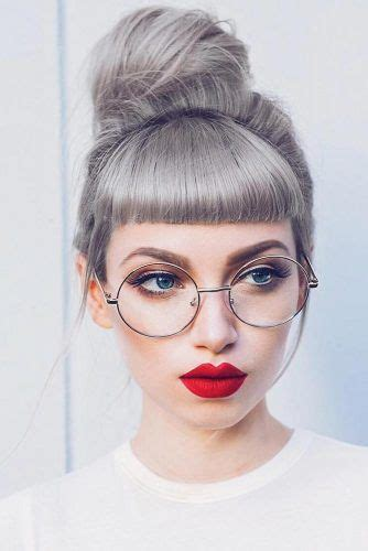 Let Short Bangs Adorn Your Life This Year Grey hair with