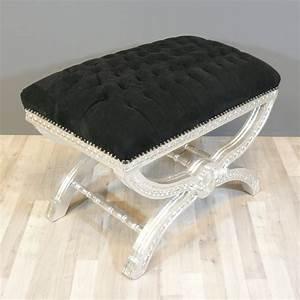 Canapé Baroque Pas Cher : pouf baroque noir capitonn canap baroque chaise baroque ~ Teatrodelosmanantiales.com Idées de Décoration