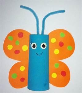 Schmetterling Basteln Papier : schmetterling aus toilettenpapierrolle mit kindern basteln ~ Lizthompson.info Haus und Dekorationen