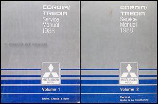 free service manuals online 1987 mitsubishi tredia on board diagnostic system 1988 mitsubishi cordia tredia repair shop manual set original