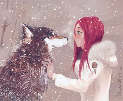 Girl And The Wolf By ~medlih On Deviantart Mia And Wulfe