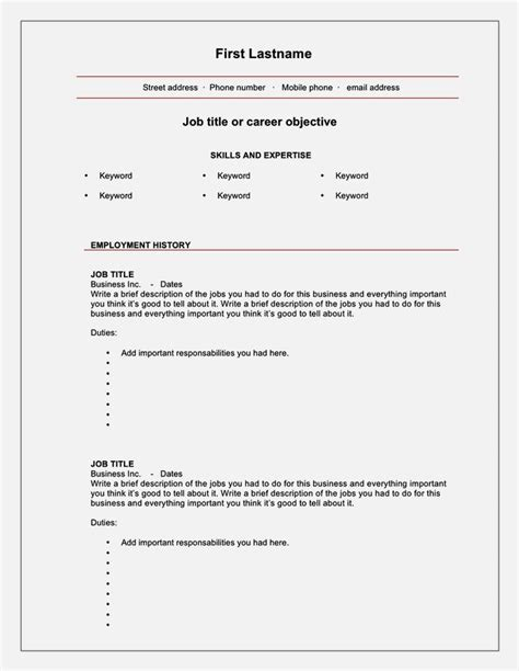 blank cv templates for 16 year olds resume template
