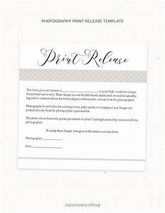 Photography print release form template photography template for Free photography print release form template