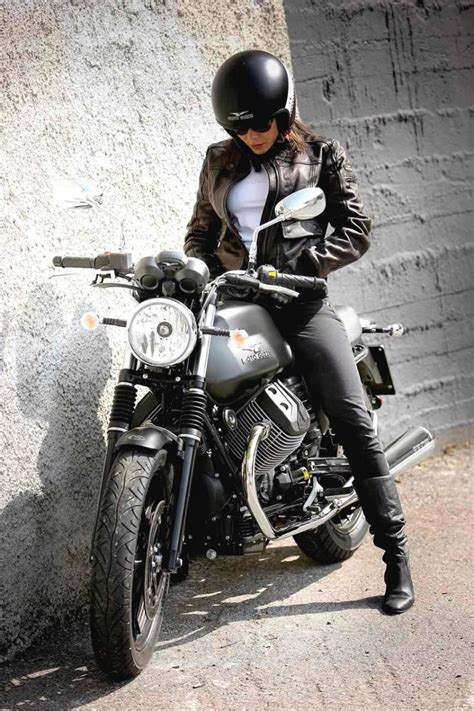 girls on moto guzzi motorcycles