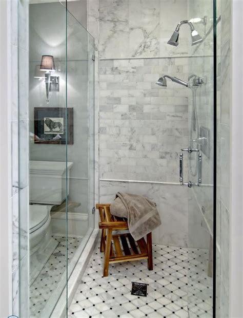 black  white octagon bathroom tile ideas  pictures