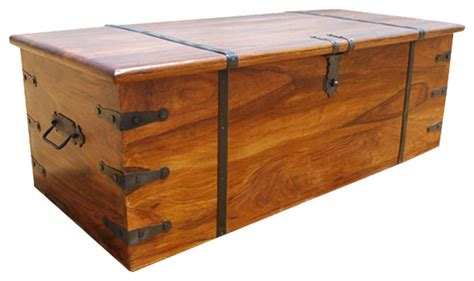 Kokanee Large Solid Wood Storage Trunk Coffee Table Chest