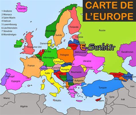 Carte Du Monde Avec Capitales Pdf by Carte De L Europe G 233 N 233 Rale Et D 233 Taill 233 E Arts Et Voyages