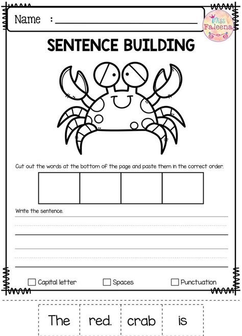 Free Sentence Building  Best Of Tpt  Pinterest  Sentence Building, Thinking Skills And