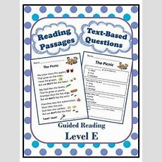 Reading Comprehension Worksheets And Passages For Guided Reading Level E  Comprehension, Texts