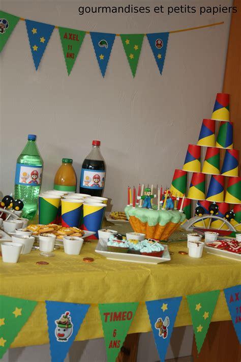 sweet table d anniversaire theme mario patisserie c est bon d 233 licieux gourmandise
