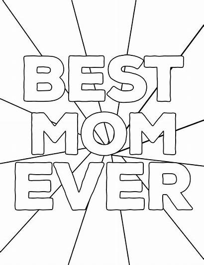 Coloring Pages Printable Mom Mother Ever Mothers